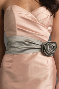 Ruched Flower Belt SA21
