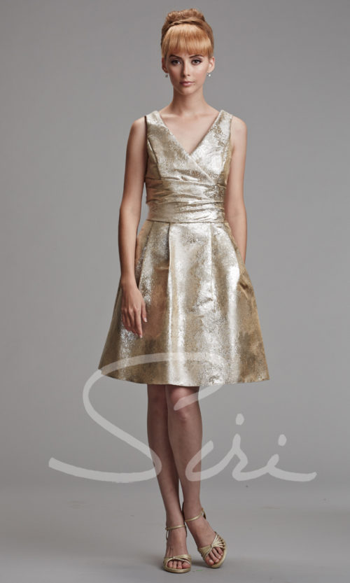Metallic champagne dress