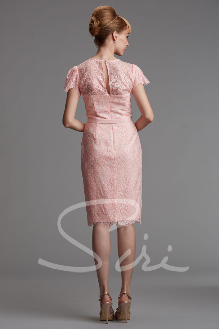Pink Lace Dress, Short Sleeve Lace Dress, Siri Dress San Francisco