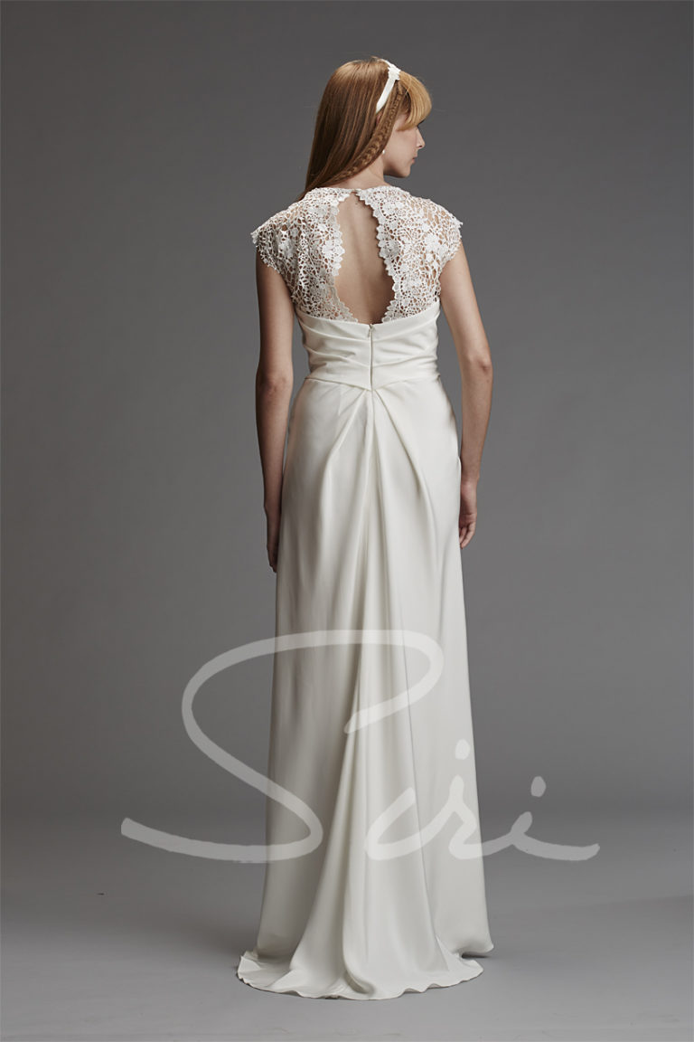 Lace silk bridal gown Siri Bridal