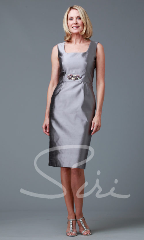 Silk Grey Dress