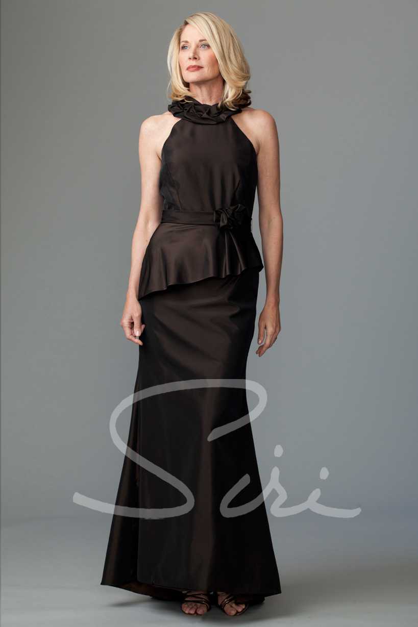 Siri - Special Occasion Gowns - Simone Gown with Ruffle - San Francisco