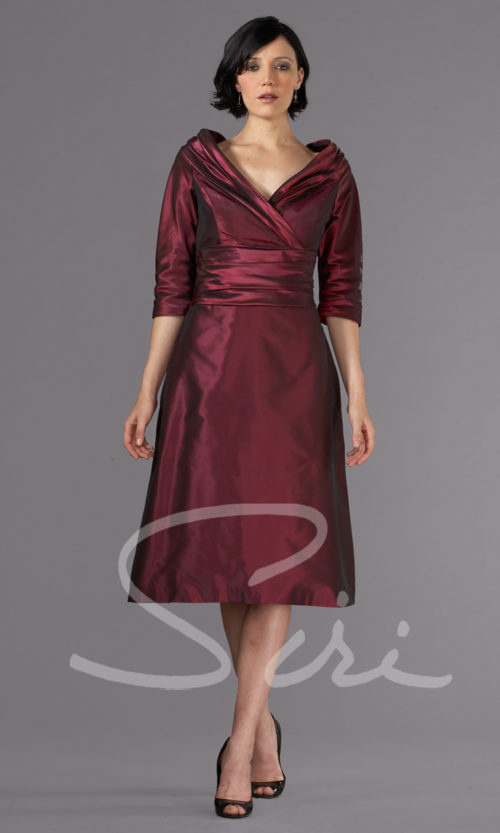 Bordeaux Dress with Sleeve