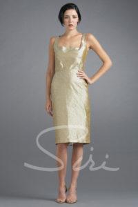 Tan silk dress