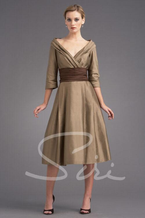 Full skirt dress with sleeve