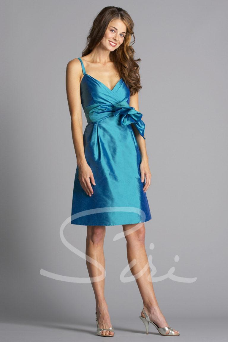 Blue special occasion dress