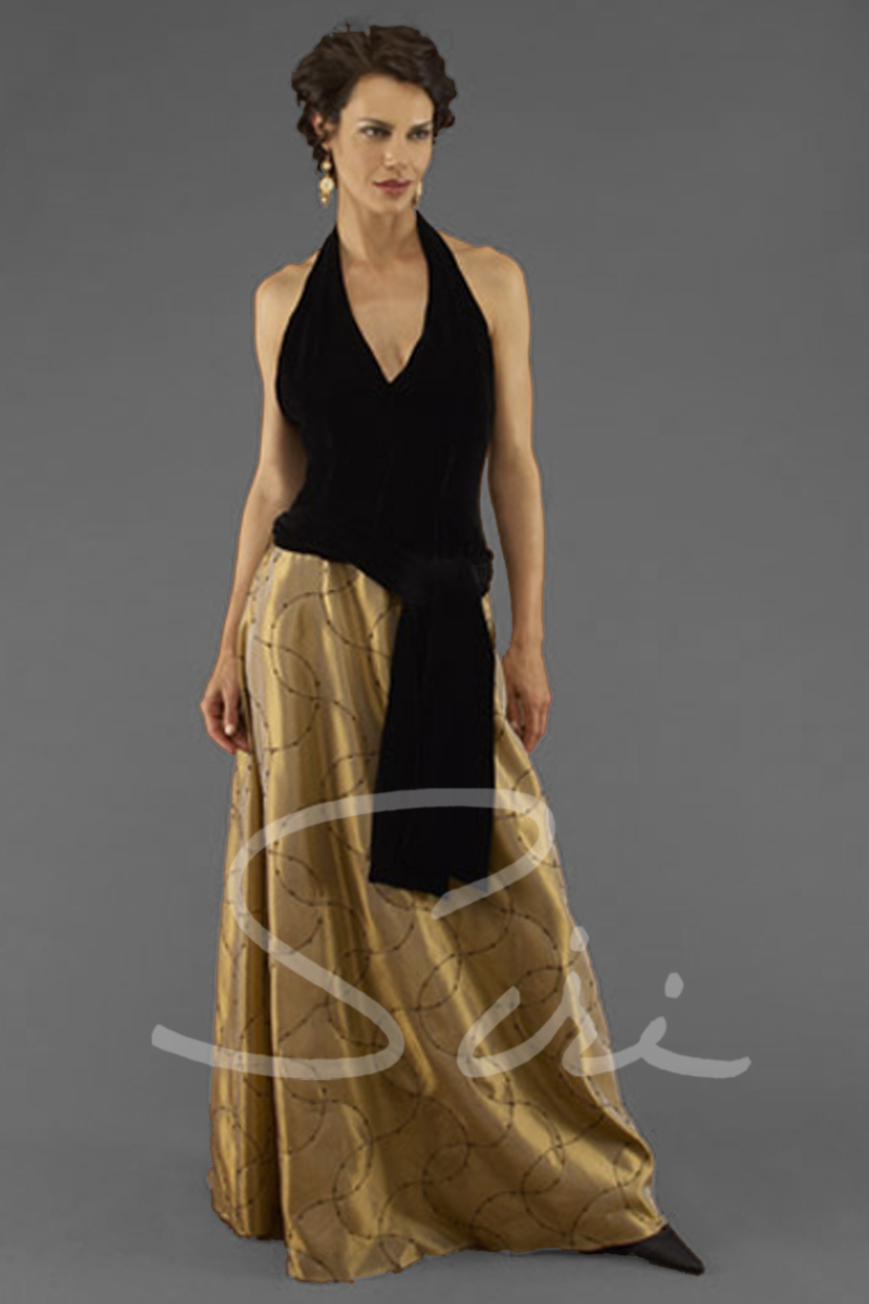 Siri San Francisco - Special Occasion Gowns - Halter Deco Gown 5891