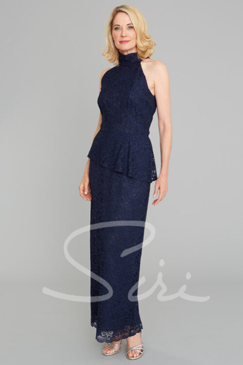 Navy Lace Gown