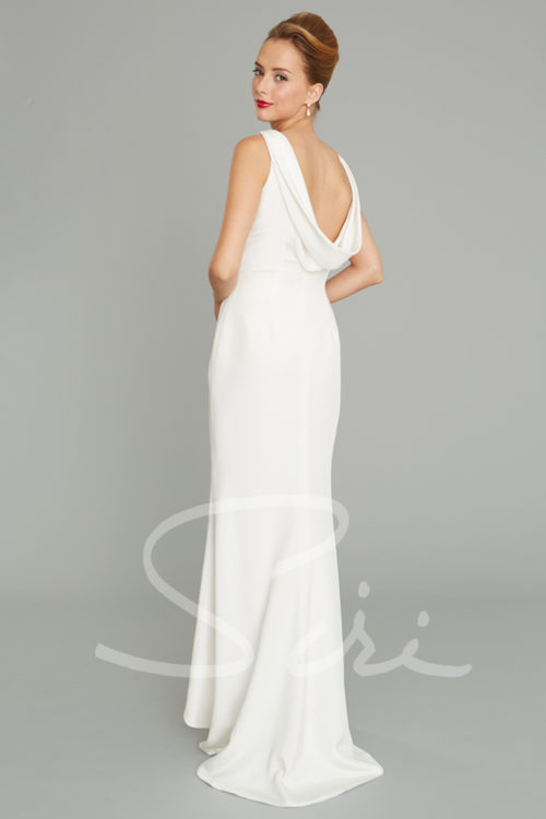 Silk crepe Bridal Gown