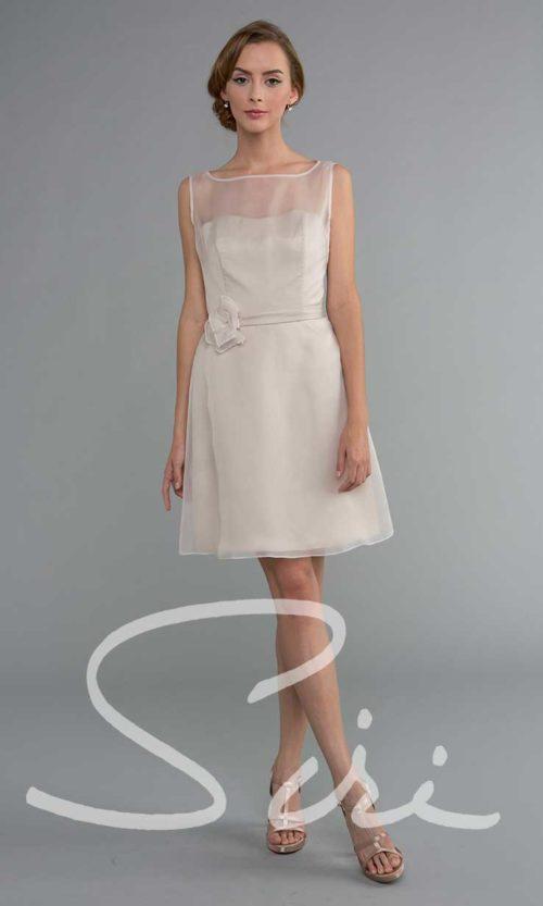 Blush organza dress