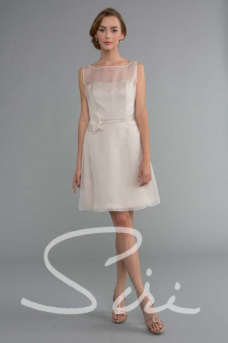 Blush organza dress