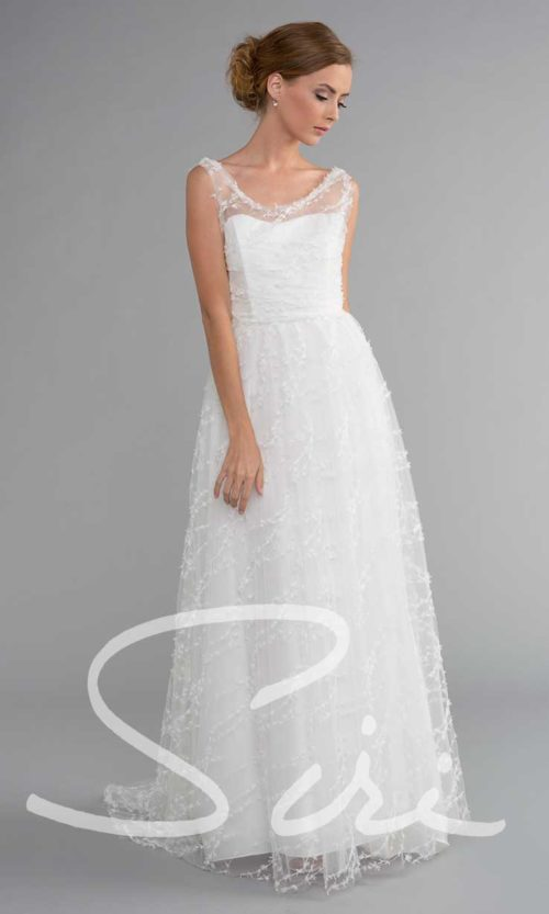 Embroidered Tulle Bridal Gown