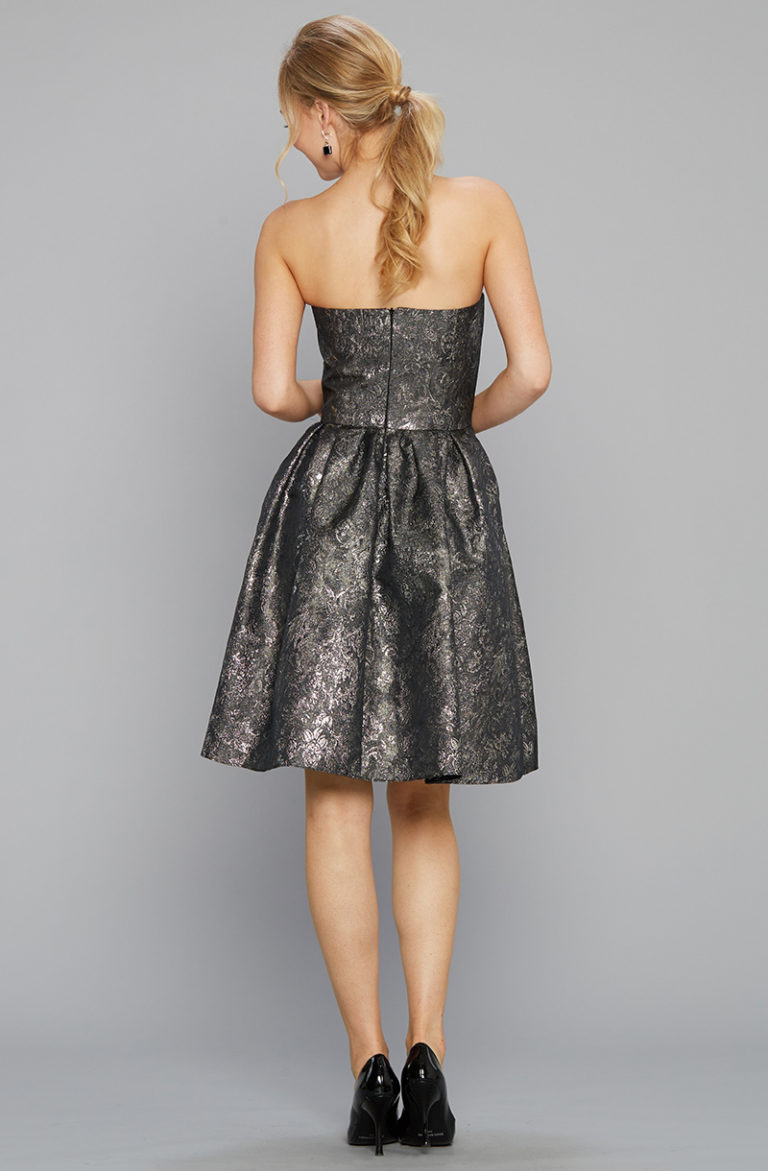 Siri 9136 Tilly Dress Metallic Back