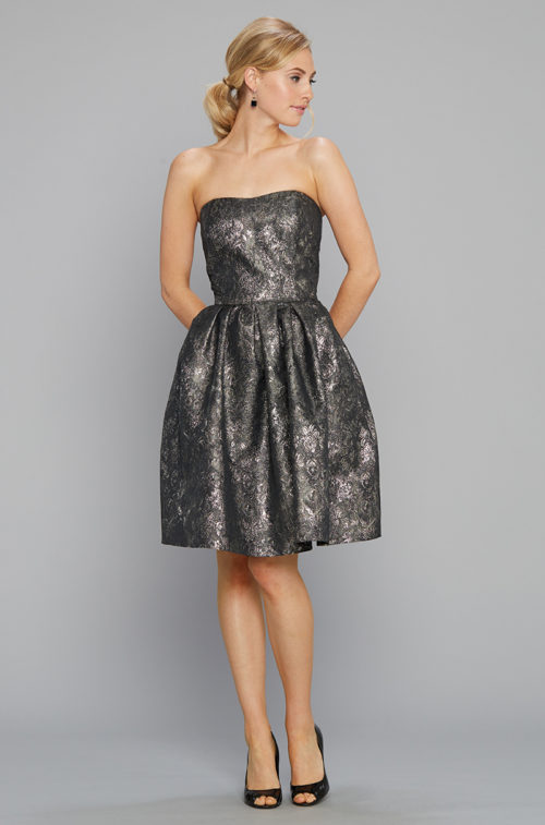 Siri Cocktail Dress 9136 Tilly Dress Metallic