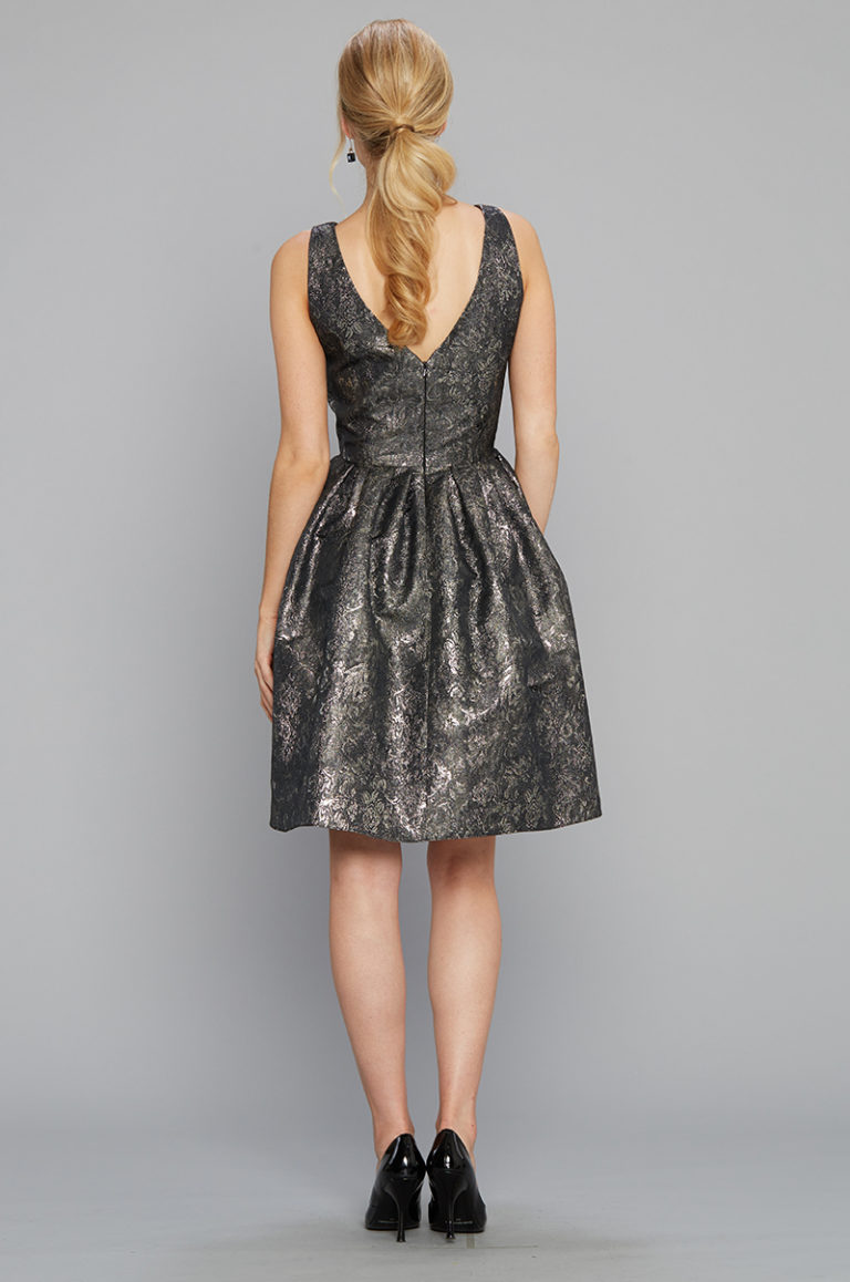 Siri Bree Dress in Metallic - Back
