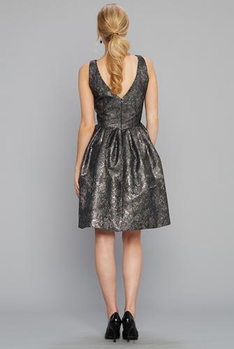 Siri Bree Dress in Metallic - Back