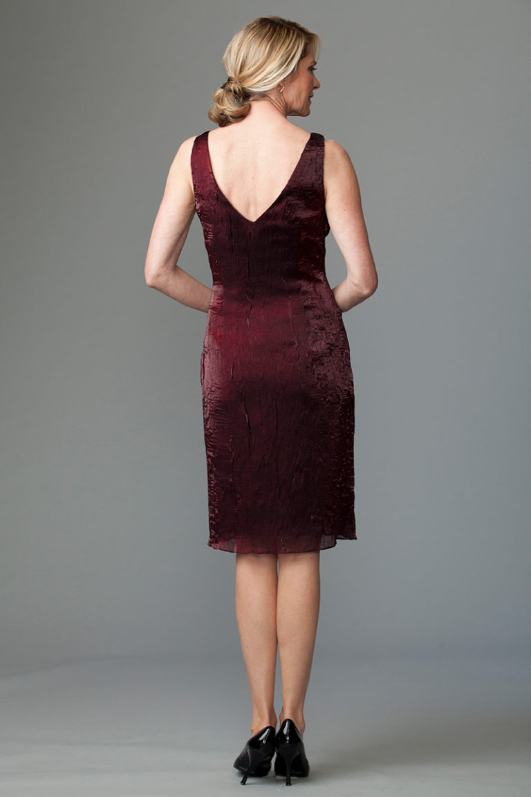 Burgundy dress Siri