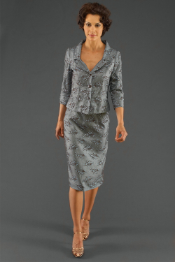 Siri - Separates - Tippi Hedren Jacket 5806 Back Slit Skirt 9620