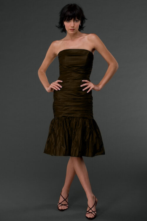 Dark Brown fitted dress