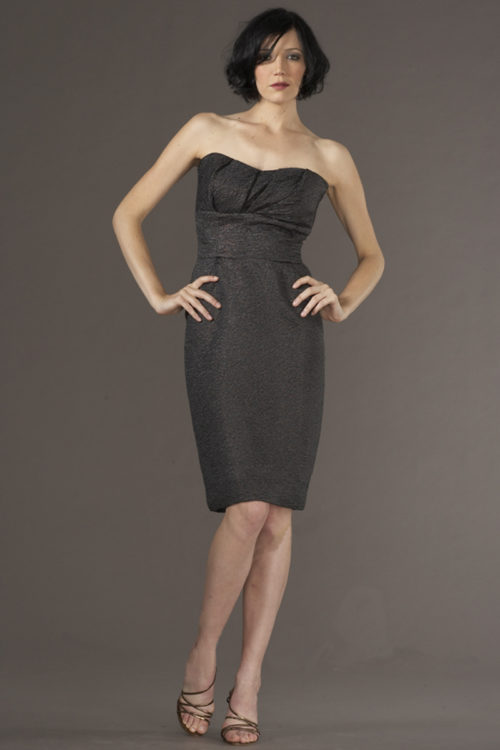 Siri Dresses-Pierre Dress 5937-Charcoal-San Francisco-California