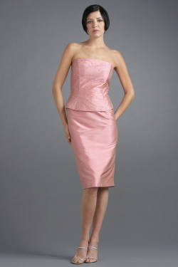 Siri - San Francisco Special Occasion Separates - Strapless Top 9638 - Back Slit Skirt 9620