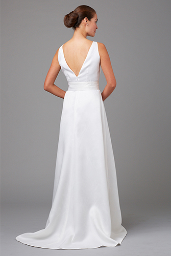V Back bridal gown