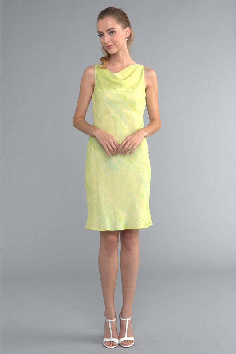 Siri - San Francisco - Day Dresses - Draped Bias Sheath 4446