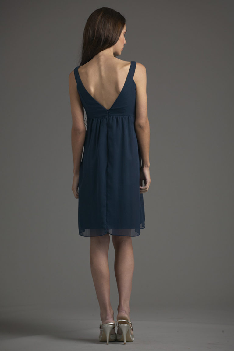 Siri Dresses-Thea Dress 5635-Georgette-Navy-San Francisco-California