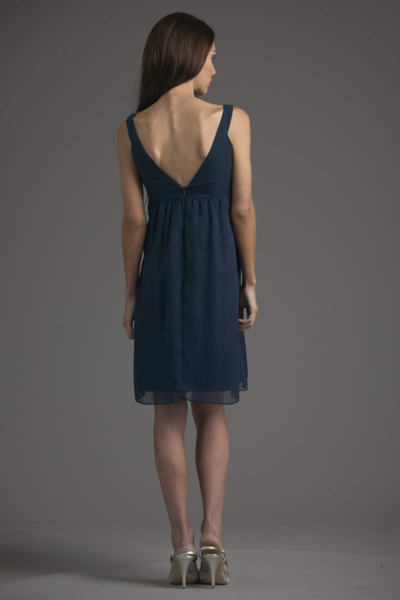Siri Dresses-Thea Dress 5635-Georgette-Navy-San Francisco-California