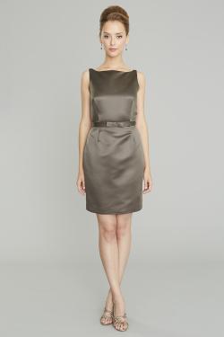 Siri - San Francisco Cocktail Dresses - Eliza Dress 9130 - Satin - Slate Grey