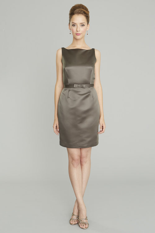 Siri - San Francisco Cocktail Dresses - Eliza Dress 9130 - Satin - Slate Grey