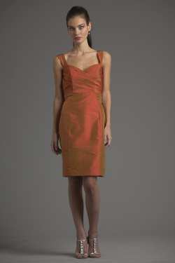 Siri Dresses-Ginger Dress 9334-Shantung-Burnt Orange-San Francisco-California