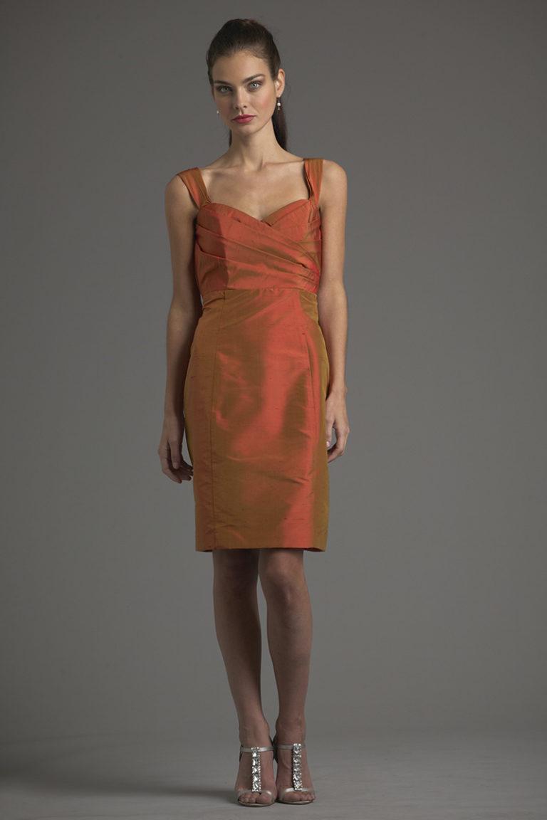 Siri Dresses-Ginger Dress 9334-Shantung-Burnt Orange-San Francisco-California