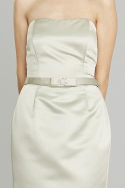 Siri Dresses - Narrow Bow Belt SA25 - Silver Taupe - San Francisco - California