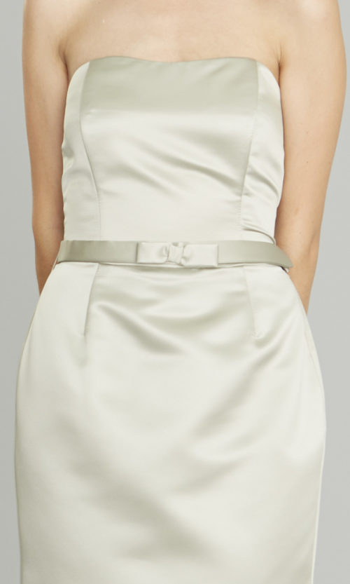 Siri Dresses - Narrow Bow Belt SA25 - Silver Taupe - San Francisco - California
