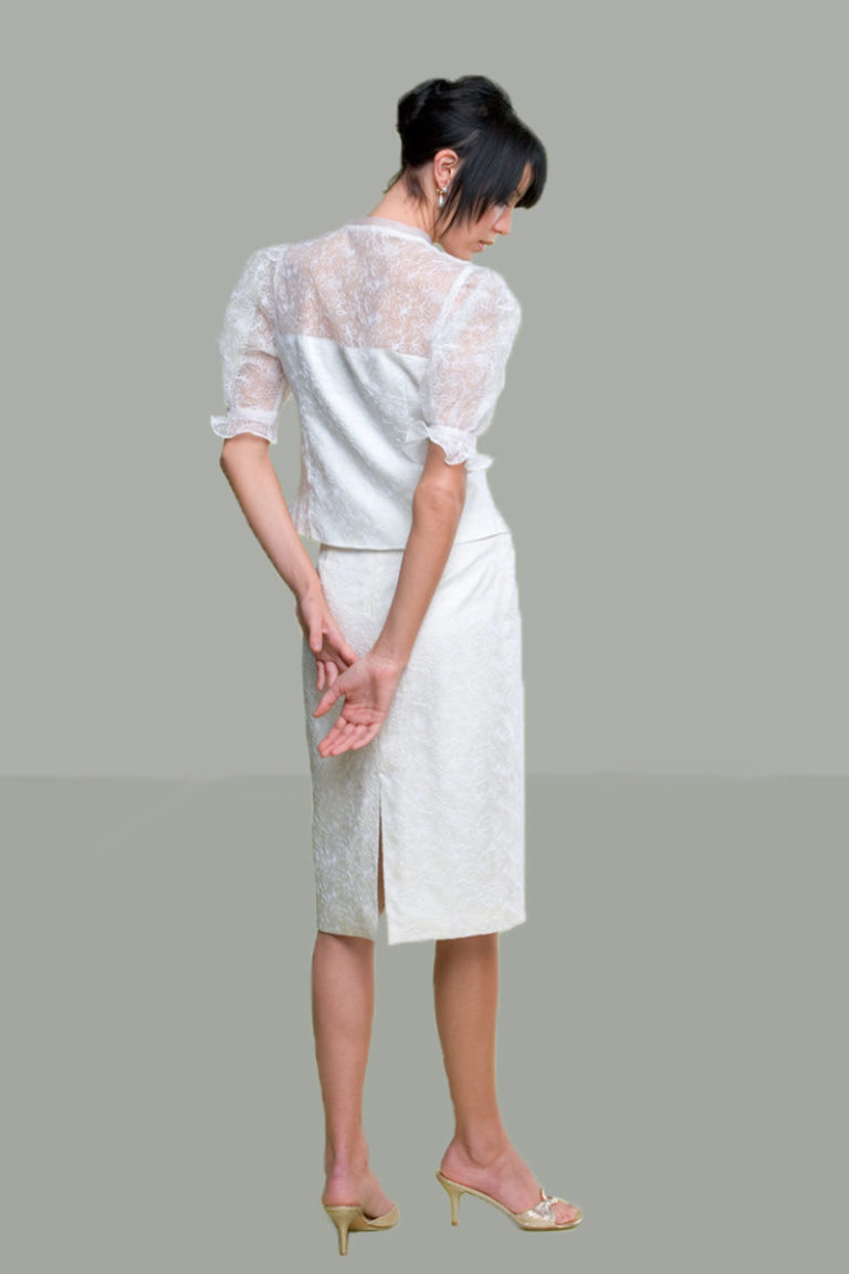 Siri -Bridal Sale - Parisian Blouse 5936 and Back Slit Skirt 9620 - San Francisco