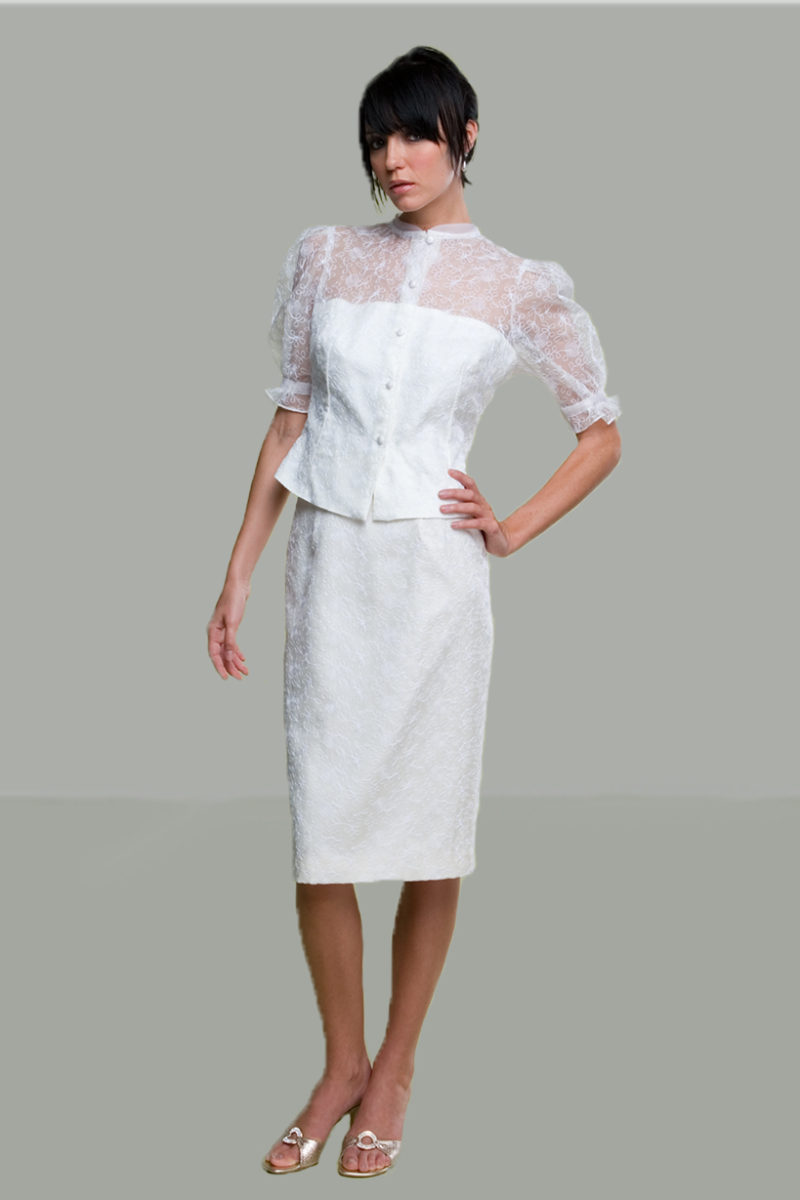 Siri -Bridal Sale - Parisian Blouse 5936 and Back Slit Skirt 9620 - San Francisco