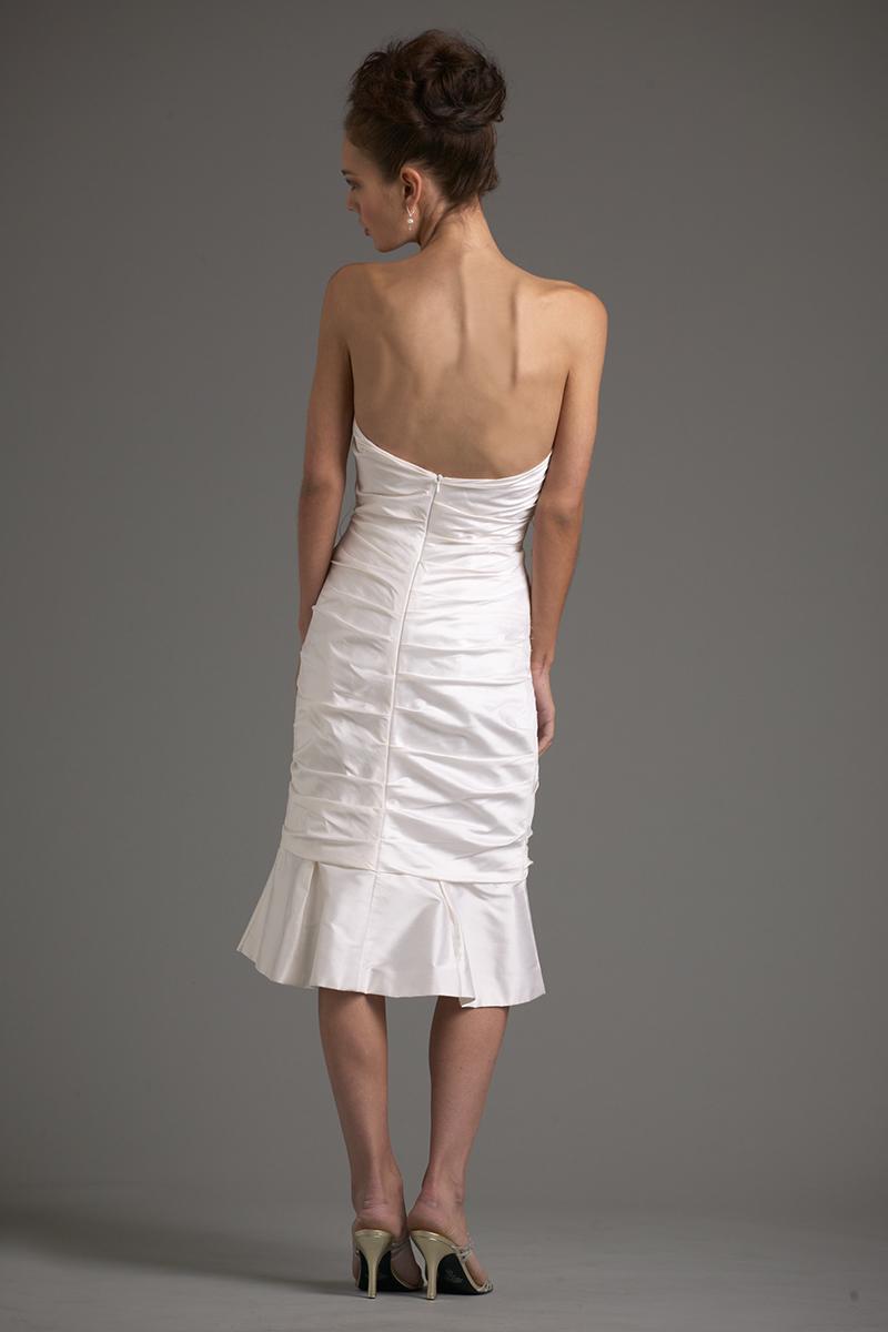 Siri - Bridal Sale - Del Mar Flounced Dress 9380 - San Francisco