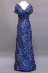 Gown, Navy Gown, Sleeve, trumpet skirt, Maria Theresa Gown, 5483, San Francisco