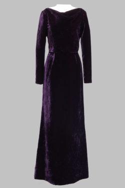 5508 - Lincoln Center Gown - Velvet Nouveau - Aubergine - FLG