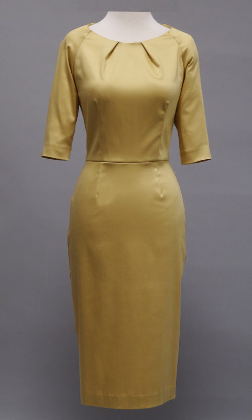 Gold 3/4 sleeve Dress