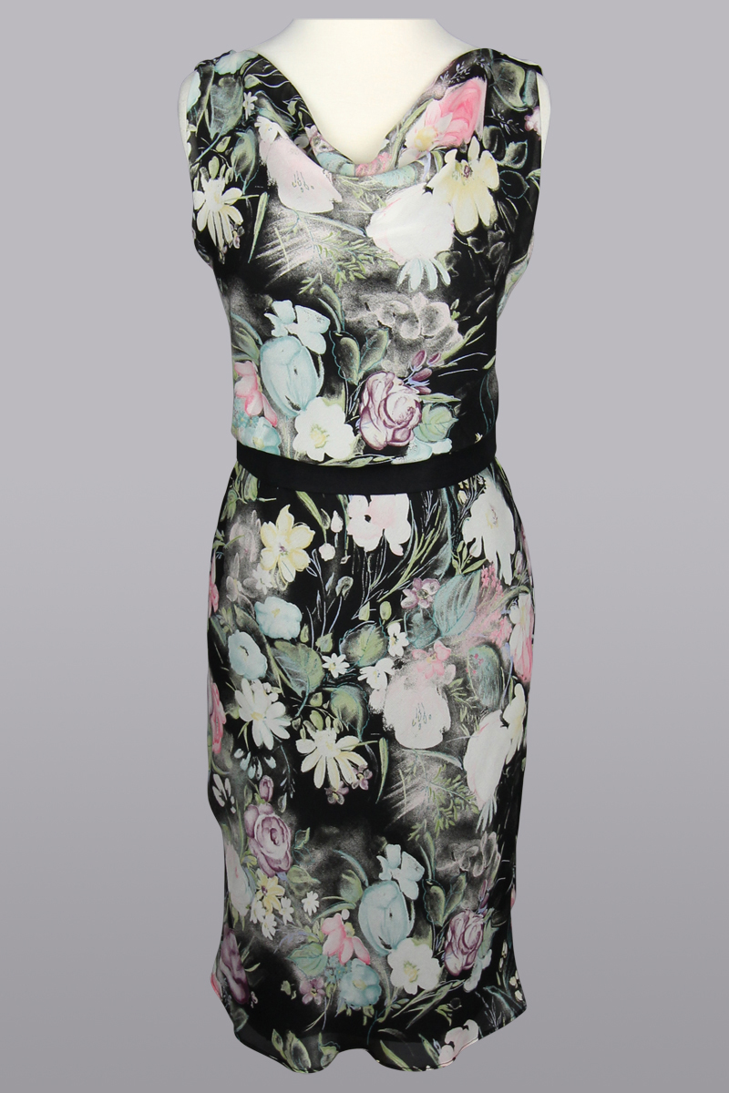 Floral Sheath Dress and sash, Siri Dresses, San Francisco,