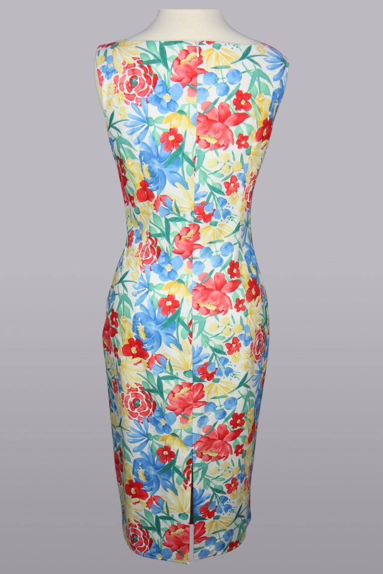 Cotton floral sheath dress