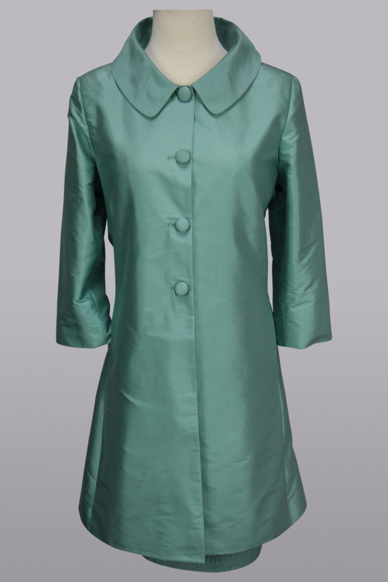 Aqua spring coat