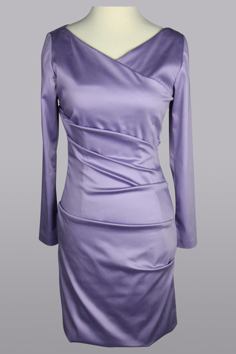 lilac stretch dress
