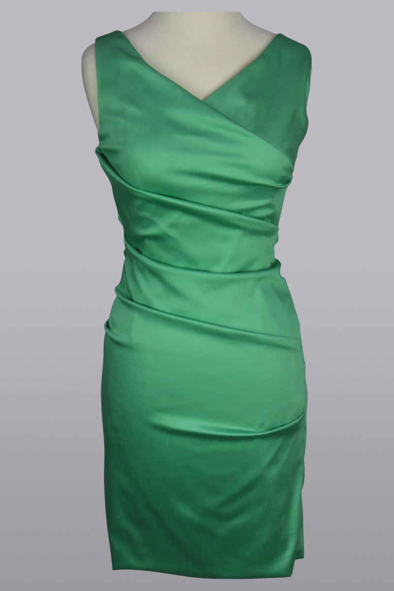 jade green dress