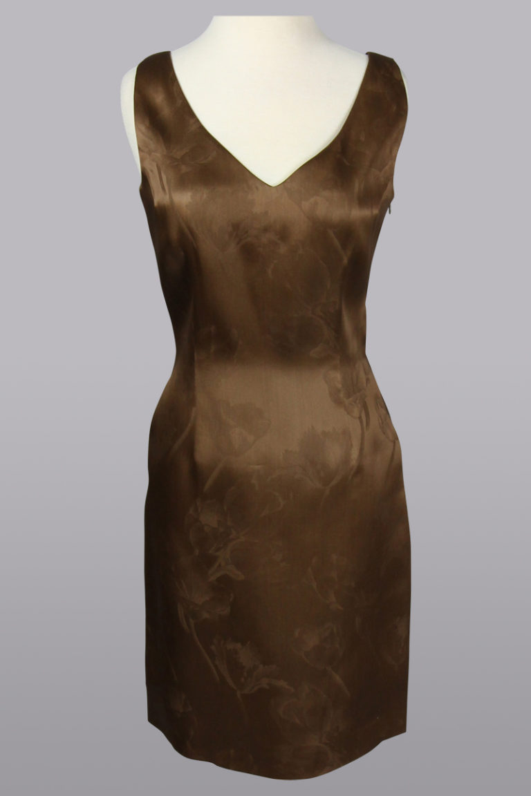 Organza chocolate dress