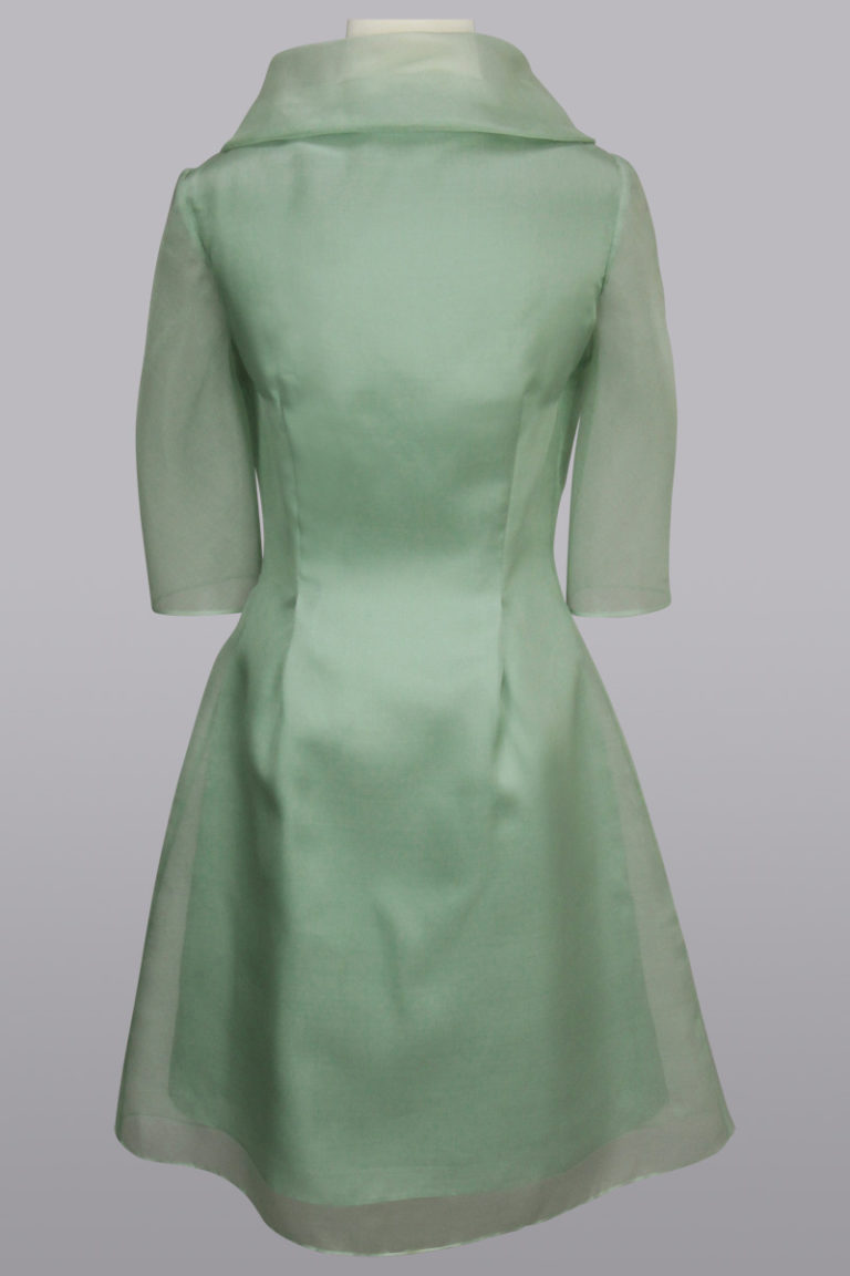 Green organza dress