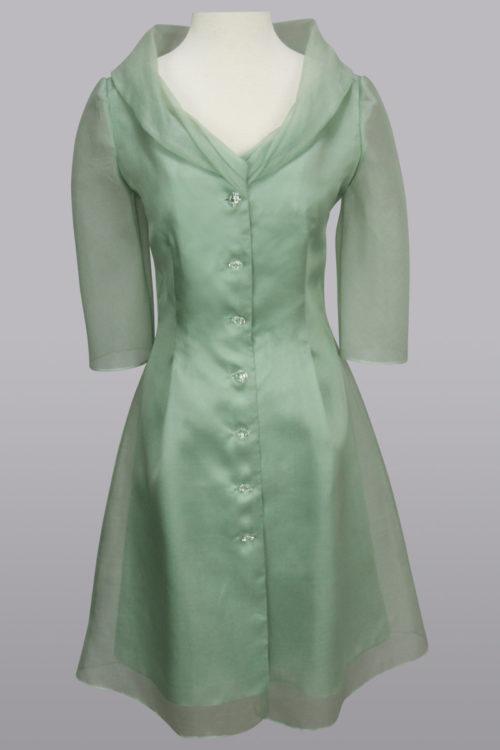 Organza dress with sleeve