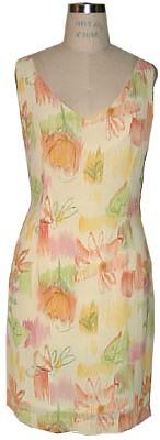 Printed V-neck dress-4498-pink-Siri